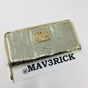 Michael Kors Gold Signature Wallet